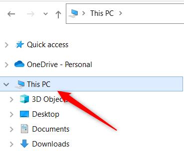 Click This PC.