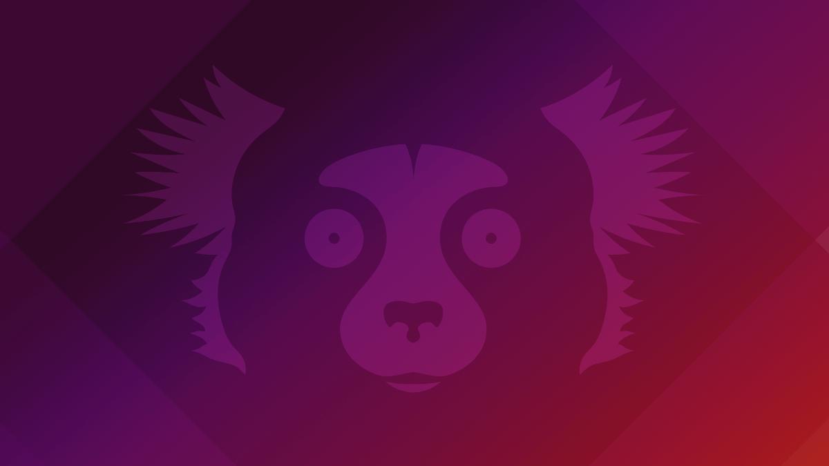 "Ubuntu 21.10 ""Impish Idri"" desktop background art featuring the mascot"