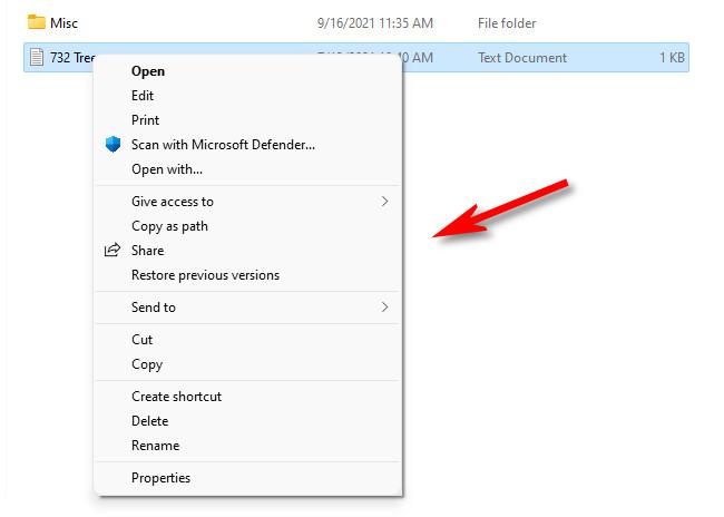 The classic context menu as seen in Windows 11.