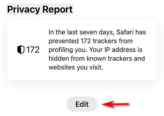 "On the Safari Start Page, tap ""Edit."""