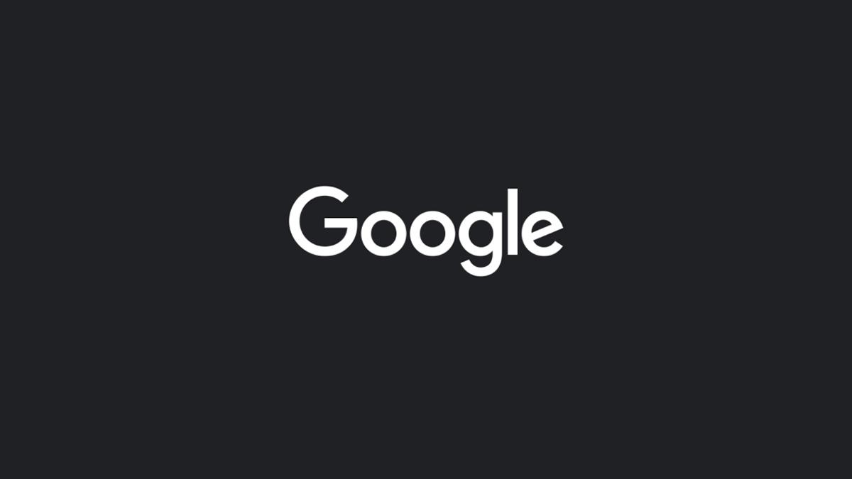 Google logo on a dark interface.