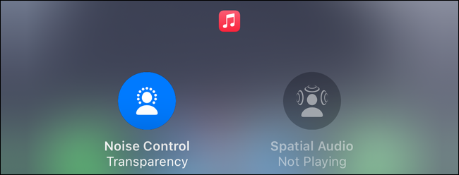 Transparency Mode quick settings