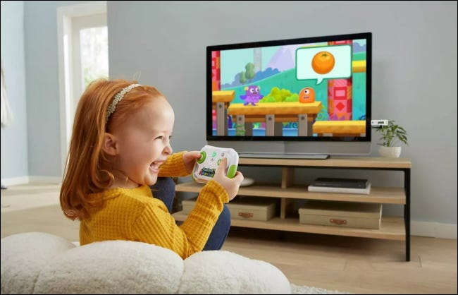 Child playing LeapLand Adventures