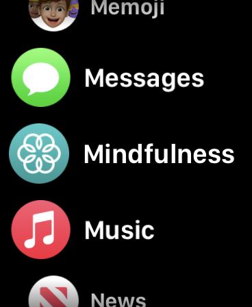 Mindfulness app in Apple Watch