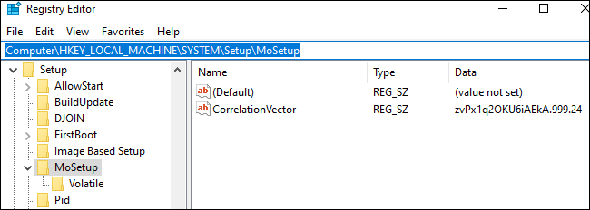 Enter the address in the Registry Editor's location bar.