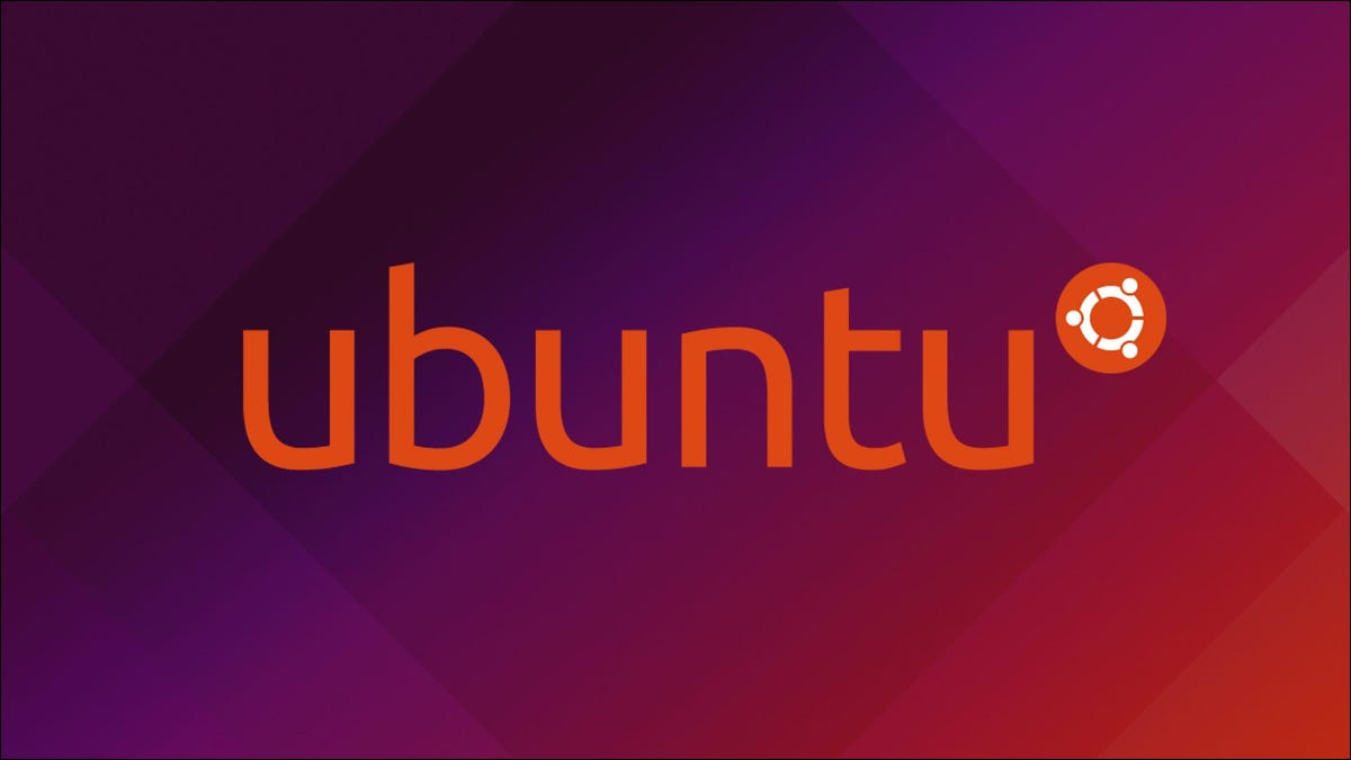 Ubuntu logo on gradient background