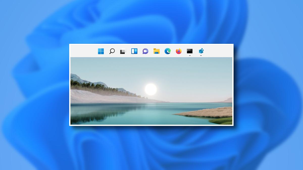 The Windows 11 taskbar on the top of the screen.