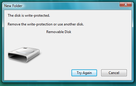 Registry Hack to Disable Writing to USB Drives
