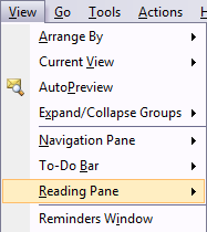 Manage the Reading Pane In Outlook 2007 - Tips general news