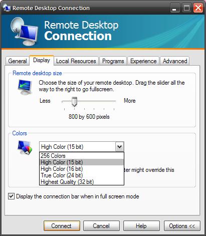 Make Remote Desktop Faster