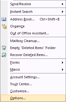 Office 2007 Address Book