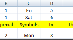 How To Insert Characters and Symbols Into Excel