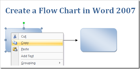 Create a flow chart in word 2007 1 ccuart