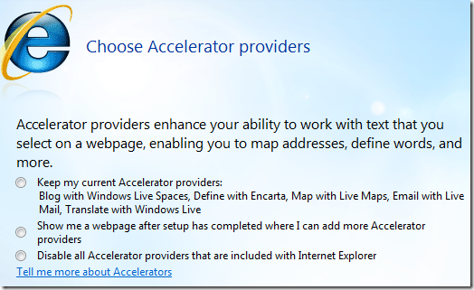 choose accelerator providers
