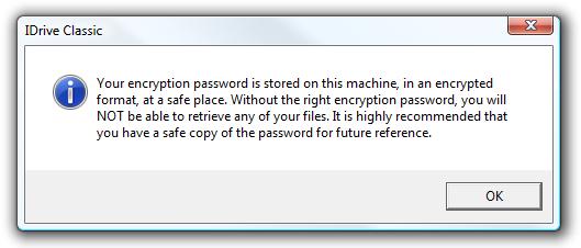 encrption verification message