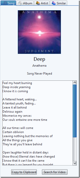 lyrics and cover