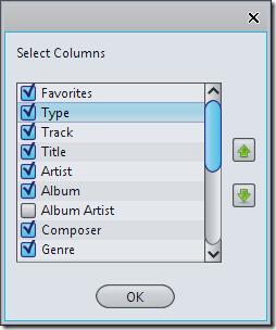 organize colums
