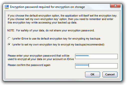 set encryption pW
