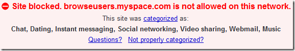 Site Blocked Message