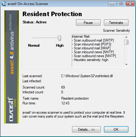 is avast real time protection