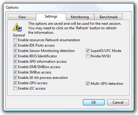 PCW settings
