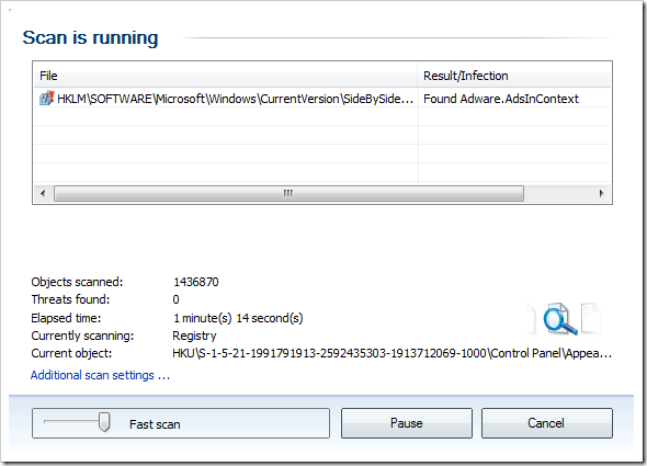 avg user interface not working