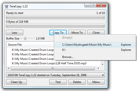 Geek Reviews: Use TeraCopy to Speed Up File Copying