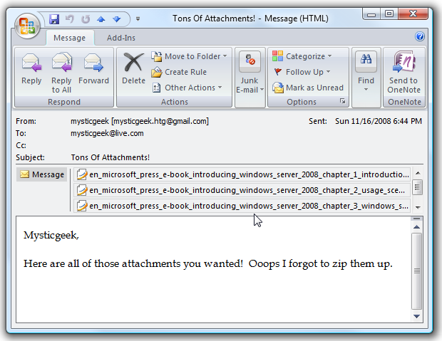 Save Multiple Attachments at Once in Outlook 2007