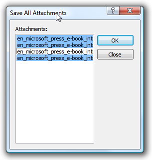 download all attachments outlook