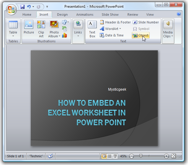 How to integrate Powerpoint slides into a Microsoft Word document?