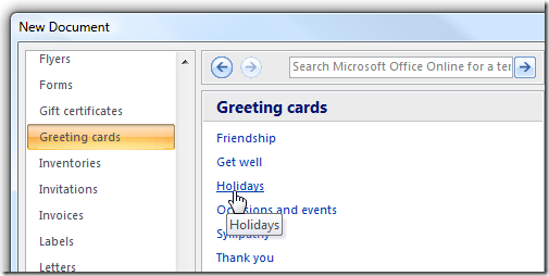 microsoft word card template
