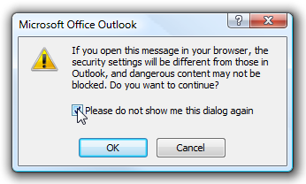 Security Dialog