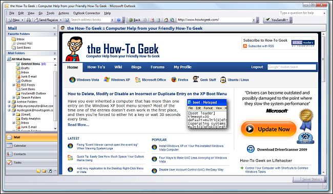 Outlook in Web View