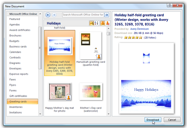 Make Your Last Minute Holiday Cards with Microsoft Word – Microsoft Word Greeting Card Template