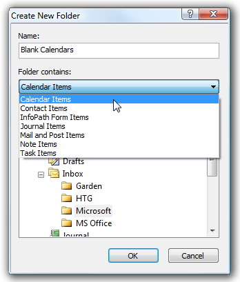 How To Print Out Blank Calendars In Outlook 2007