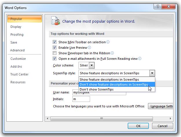 Create A Hyperlink In A Word 2007 Flow Chart Hide Annoying Screentips