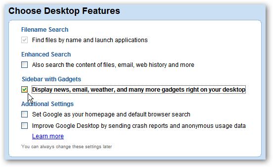 2 Installing GDesktop Features