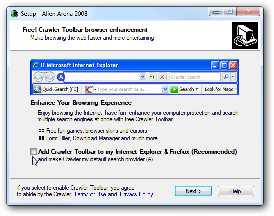 crawler toolbar