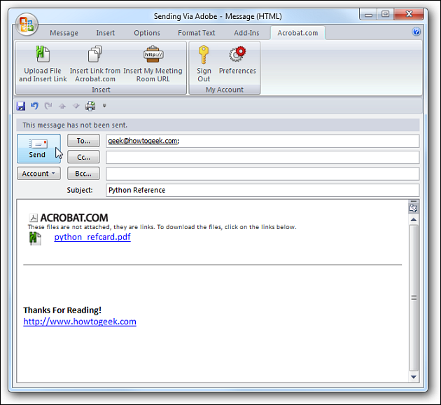email with attach