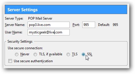 pop settings