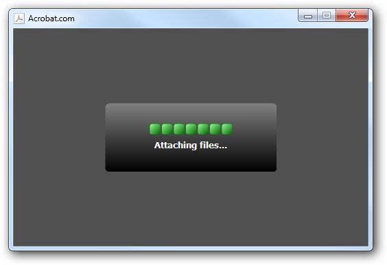 progress attaching files