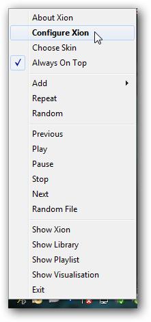 taskbar menu