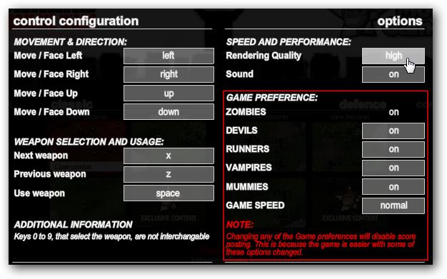 game Configuration