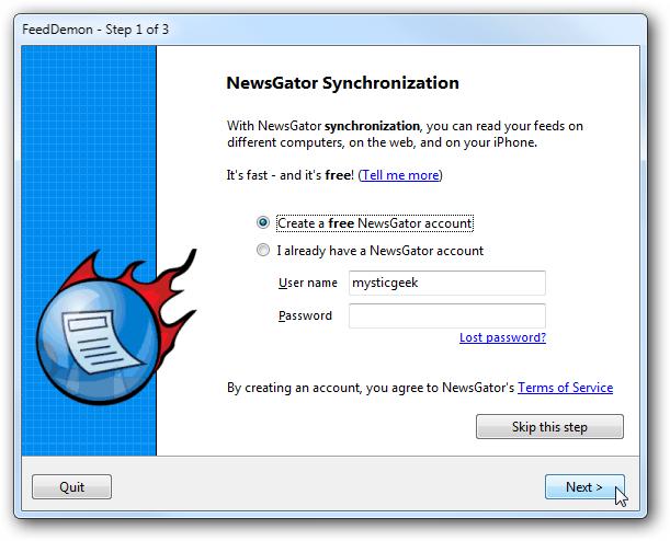 newsgator sync