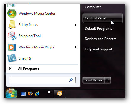 how to get to all control panel items windows 10