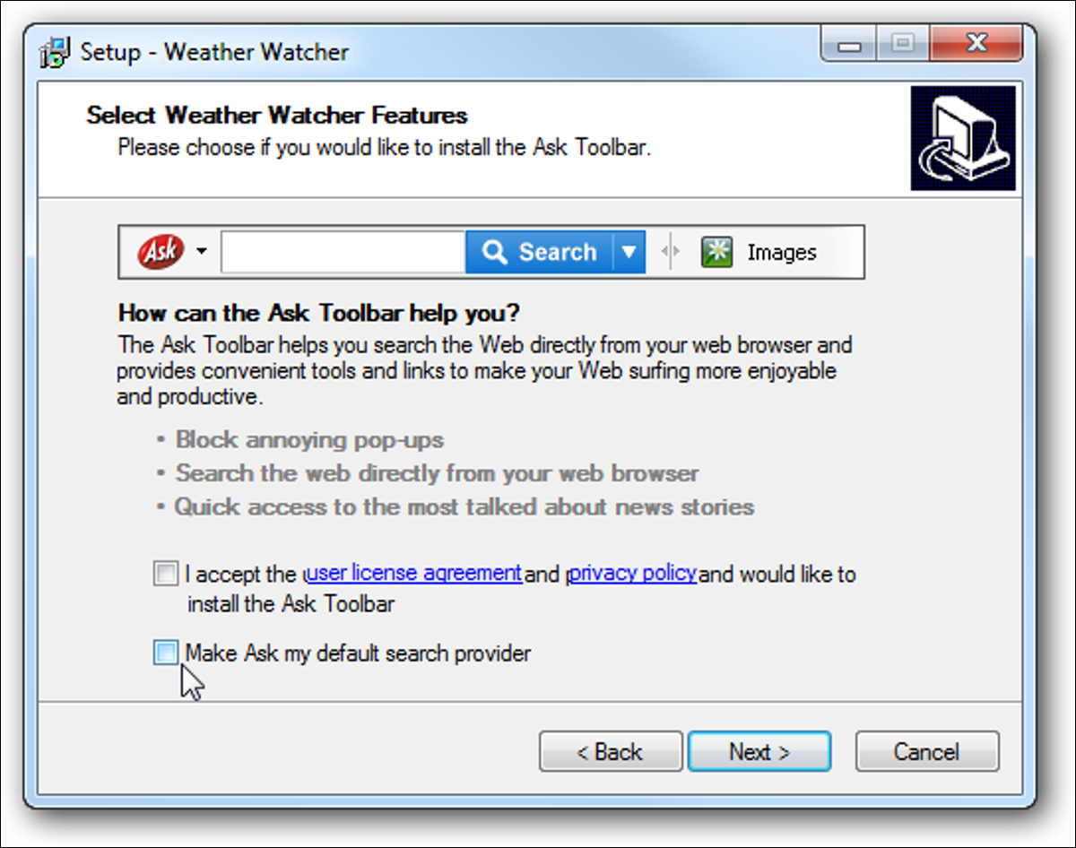 2 uncheck ask toolbar