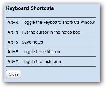 kb shortcuts