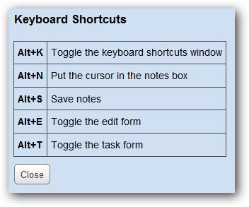 kb shortcuts