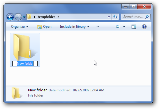 Hotkey for Creating New Folder in Windows Explorer