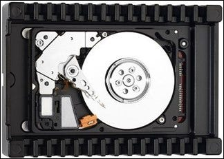 Picture of a hard drive platter.